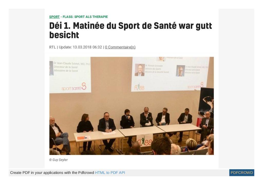 Déi 1. Matinée du Sport de Santé war gutt besicht